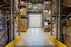 Loading dock in warehouse royalty free stock images