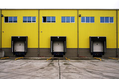 Loading Docks. Warehouse Docks or Store Loading Docks Stock Photos