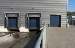 Loading docks Stock Photo