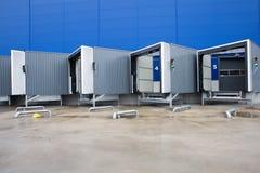 Loading docks for trucks Royalty Free Stock Image
