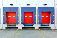 Loading doors Stock Photo
