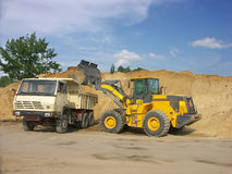 Loading the dump car Stock Image