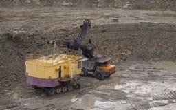 Loading dump trucks Royalty Free Stock Photography