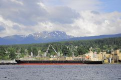 Loading of the freight vessel. Stock Photography