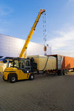 Loading goods work royalty free stock photography