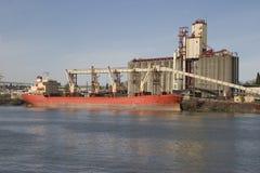 Loading grain. Ship loading grain for export Royalty Free Stock Photo