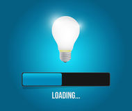 Loading great ideas concept illustration Stock Photography
