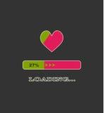 Loading heart Stock Image