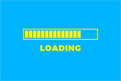 Loading icon. Progress bar icon isolated, minimal design. Vector illustrationern, vector illustration background Royalty Free Stock Photo