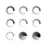 Loading icons set. Collection of modern preloaders. Royalty Free Stock Photos