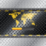 Loading industrial interface with metallic plate Stock Images