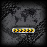 Loading industrial interface with world map Stock Photo