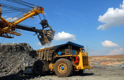 Loading of iron ore Royalty Free Stock Photography