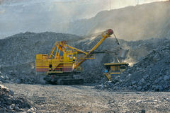 Loading of iron ore Royalty Free Stock Image