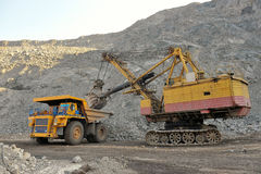 Loading of iron ore Stock Photos