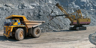 Loading of iron ore Stock Image