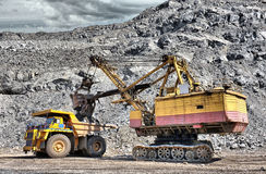 Loading of iron ore Royalty Free Stock Photo
