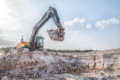 Loading a large lorry building material Royalty Free Stock Images