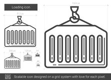 Loading line icon. Loading vector line icon  on white background. Loading line icon for infographic, website or app. Scalable icon designed on a grid system Royalty Free Stock Images