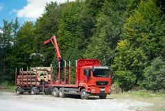 Loading logs Royalty Free Stock Image