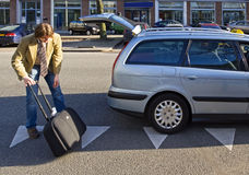 Loading luggage Stock Photos