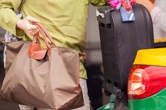 Loading luggage Royalty Free Stock Photo