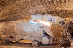 Loading machine in a mine Royalty Free Stock Photography