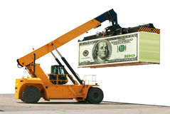 Loading of money. Build business. Success. Royalty Free Stock Photo