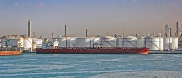 Loading oil supertanker Stock Photography