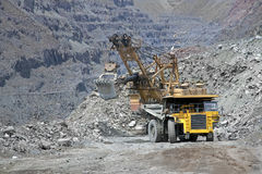 Loading ore into the truck Royalty Free Stock Photo