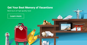 Loading page web site to provide tourist services. Illustration of loading page web site to provide tourist services Royalty Free Stock Photos
