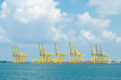 Loading Piers. View of loading piers at Butterworth Penang Stock Image