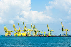 Loading Piers. View of loading piers at Butterworth Penang Royalty Free Stock Image