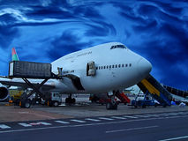 Loading the plane Royalty Free Stock Image