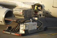 Loading a Plane Royalty Free Stock Photo