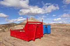 Loading platform for lorry in volcanic area Stock Images