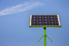 Loading point for bicycles with solar panel Stock Image