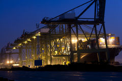 Loading port night view. Night view of loading port Stock Photos