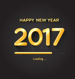 2017 loading progress bar. Happy New Year concept Royalty Free Stock Photo
