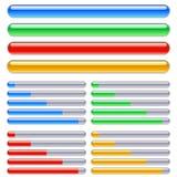 Loading progress bars. Illustratin for design Stock Image