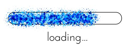 Loading progress indicator. Blue creative scale. royalty free illustration