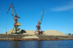 Loading sand Stock Photo