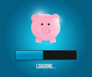 Loading savings profits illustration design Stock Photos