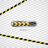 Loading screen behind wired fence royalty free illustration