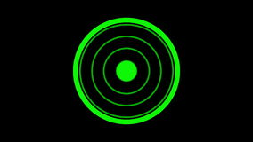 Loading screen circular, green on black background - 30fps loop - video texture, seamless animated element stock video footage