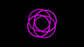 Loading screen circular, purple on black background - 30fps loop - video texture, seamless animated element stock footage