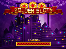 Loading screen for slots game. Vector illustration royalty free illustration