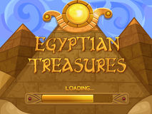 Loading screen for slots game Royalty Free Stock Photo