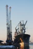 Loading a seaship Stock Photography