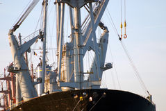 Loading a seaship Stock Image